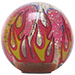 Custom Clear Flame Custom Shift Knob Translucent with Metal Flake