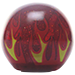 Custom Red Flame Custom Shift Knob Translucent with Metal Flake