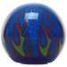 Custom Blue Flame Custom Shift Knob Translucent with Metal Flake
