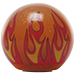 Custom Orange Flame Custom Shift Knob Translucent with Metal Flake